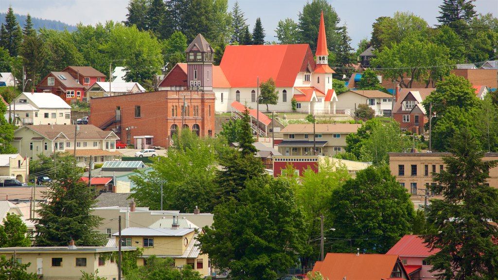 Rossland ofreciendo elementos del patrimonio y una ciudad