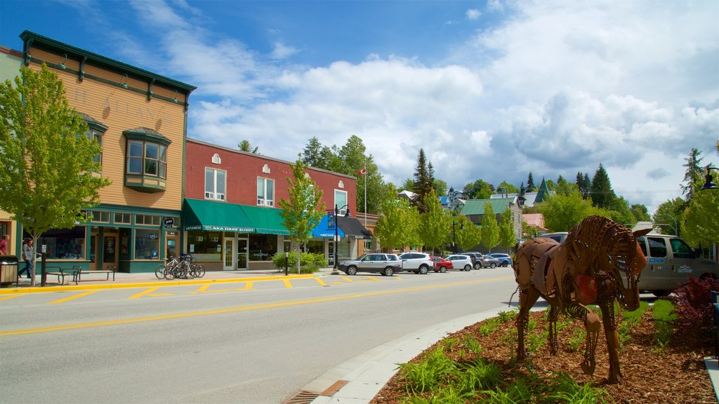Rossland which includes outdoor art