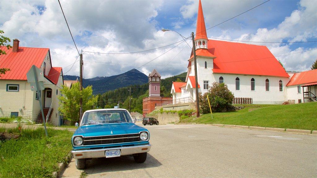 Rossland ofreciendo elementos del patrimonio