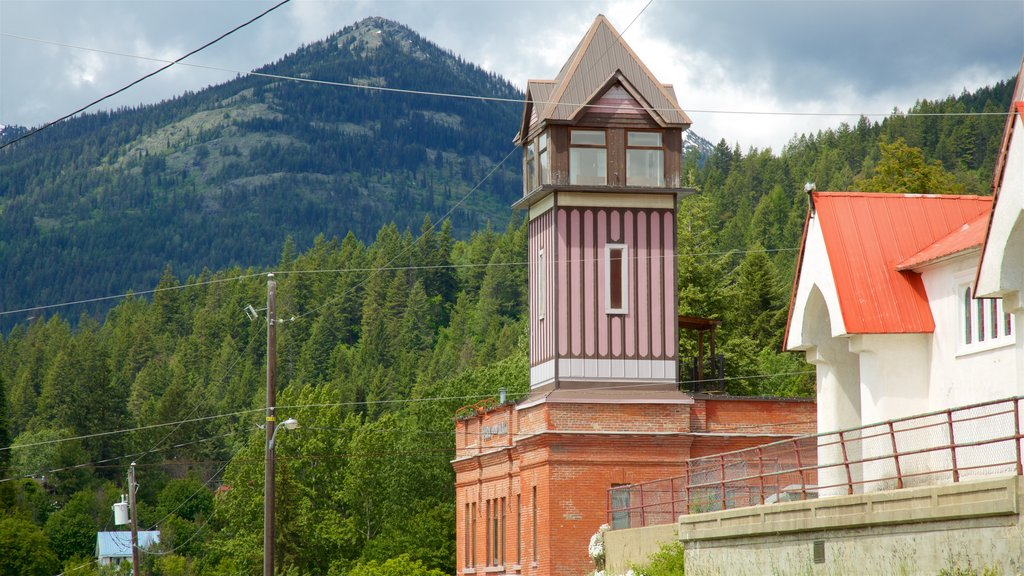 Rossland showing tranquil scenes and heritage elements