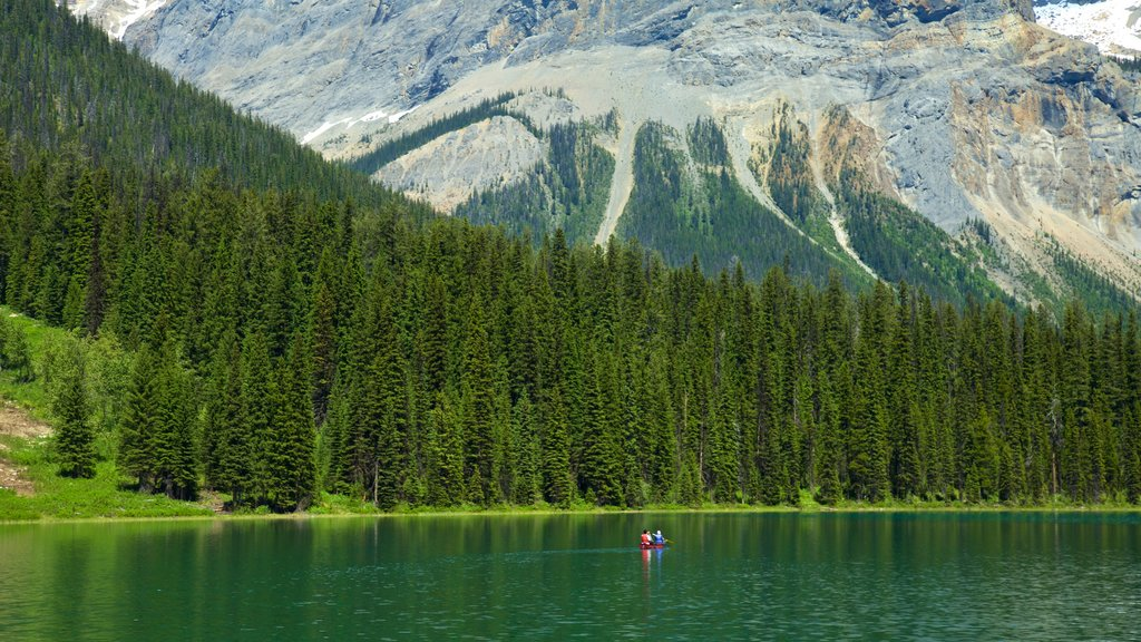 Yoho National Park which includes mountains, kayaking or canoeing and tranquil scenes