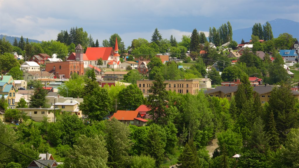 Rossland showing a small town or village
