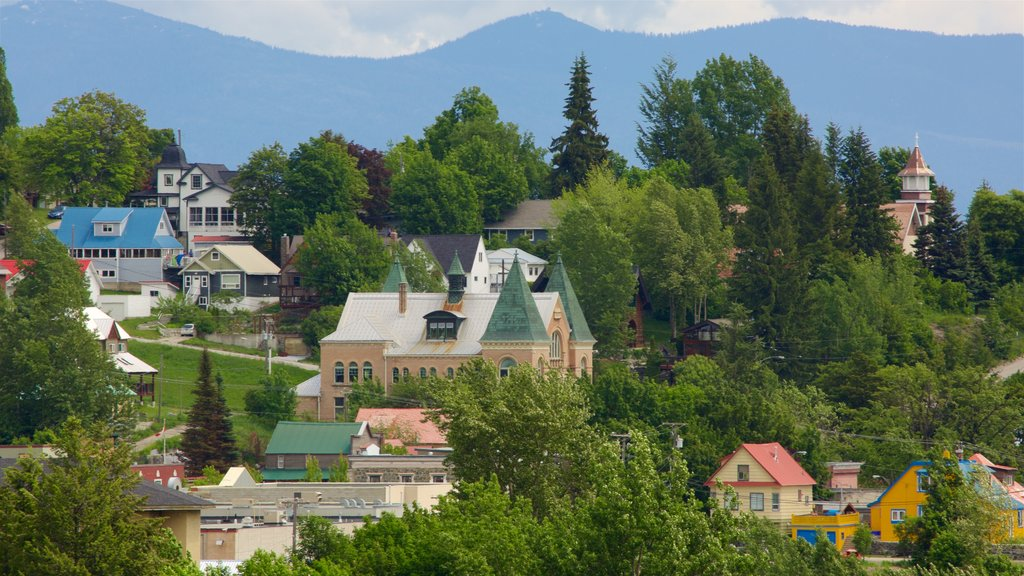 Rossland which includes a small town or village