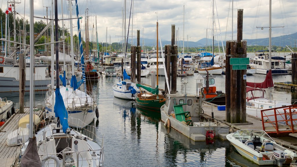 Cowichan Bay featuring a bay or harbor