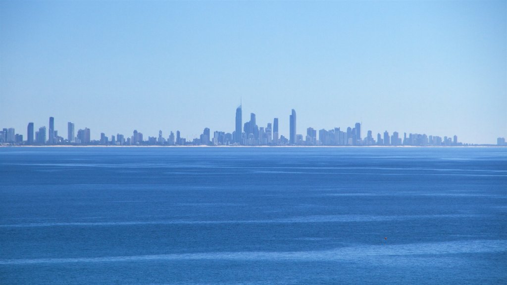 Coolangatta featuring a city, waves and skyline