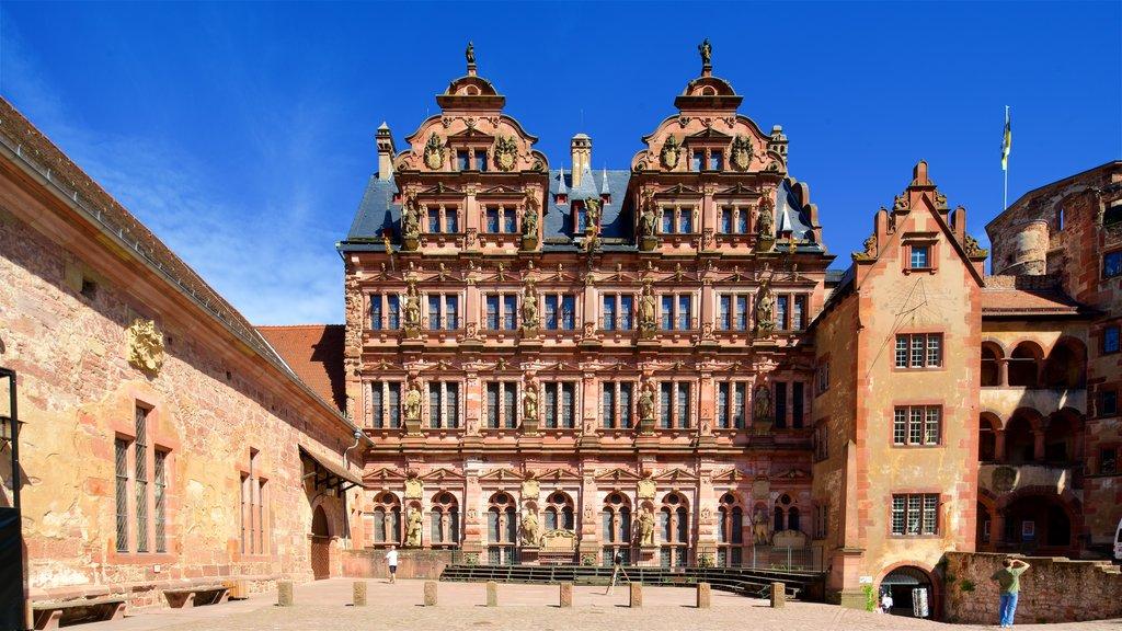 Heidelberg Castle showing heritage elements