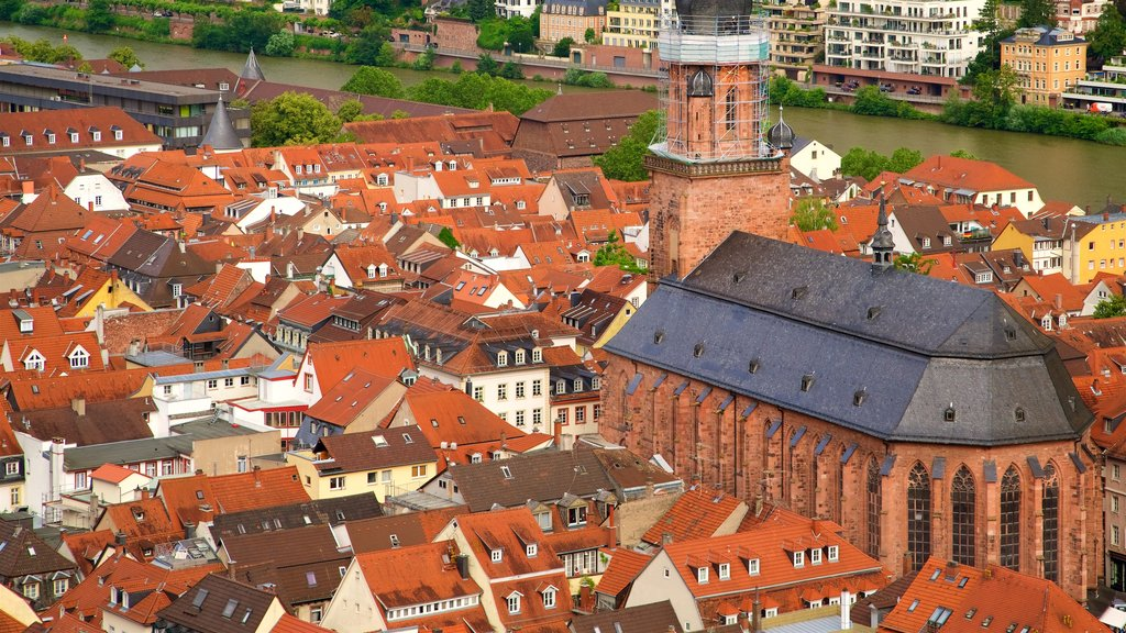 Heidelberg Church of the Holy Spirit featuring heritage elements and a city