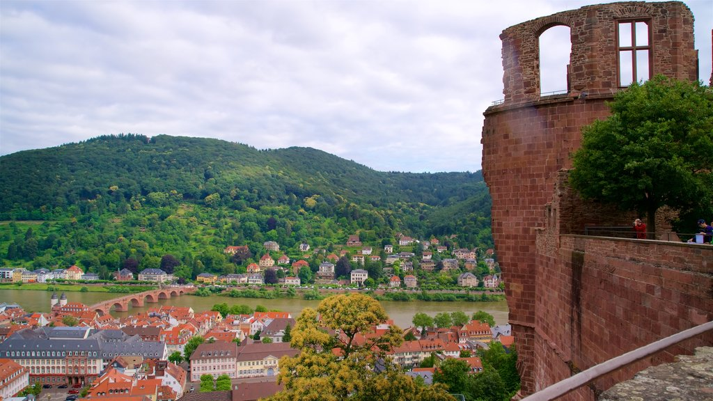 Heidelberg Castle showing heritage elements and tranquil scenes