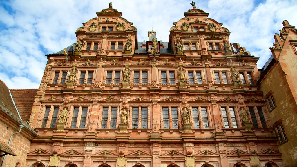 Heidelberg Castle showing heritage architecture