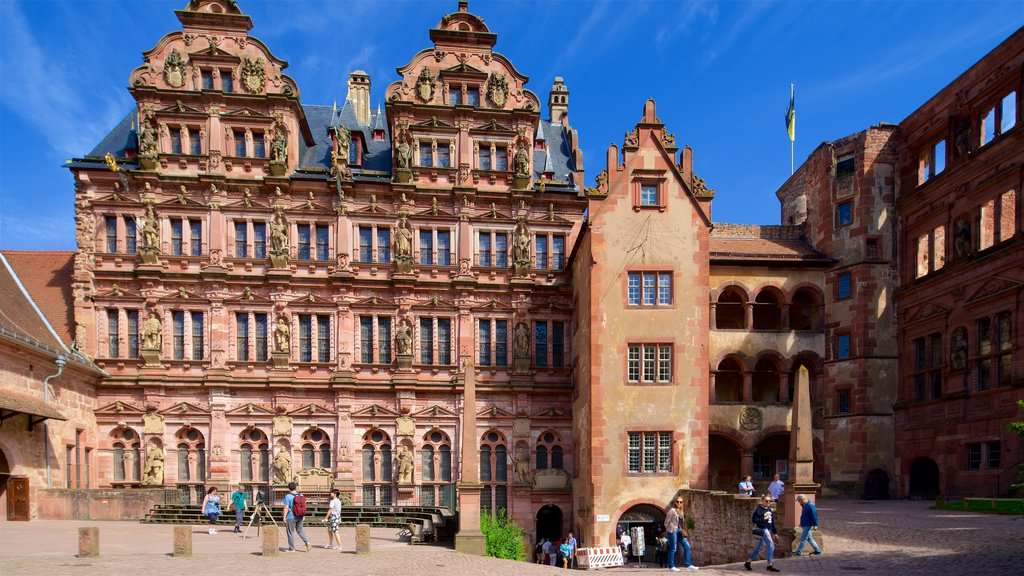 Heidelberg Castle featuring heritage elements and a monument