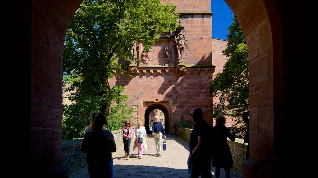 Heidelberg Castle which includes heritage elements as well as a small group of people