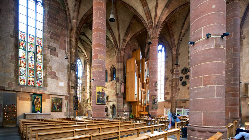 Frauenkirche showing interior views, heritage elements and a church or cathedral