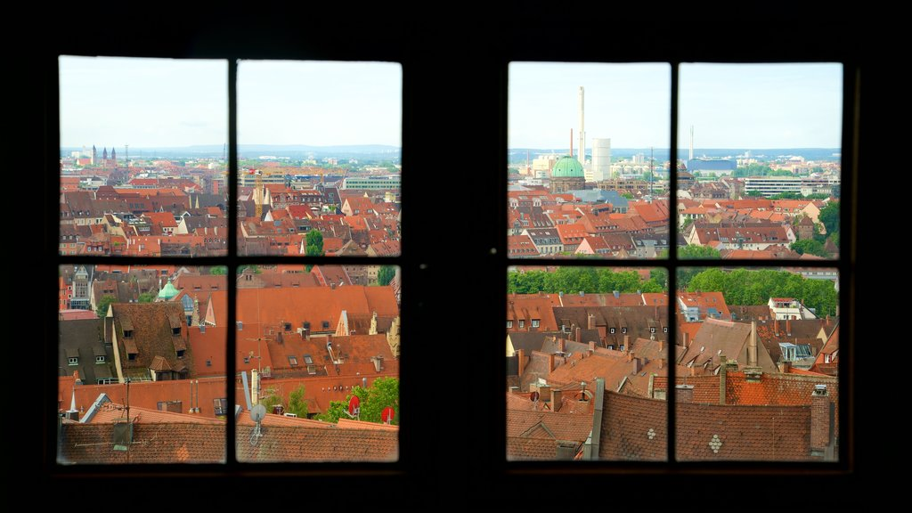 Nuremberg Castle which includes a city and interior views