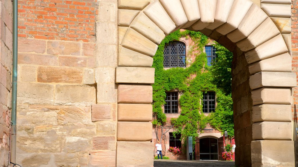 Nuremberg Castle showing heritage elements