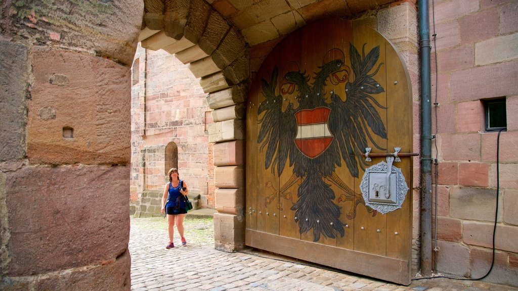 Nuremberg Castle which includes heritage elements as well as an individual femail