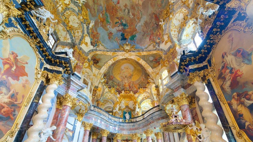 Würzburger Residenz que inclui vistas internas, arte e elementos de patrimônio