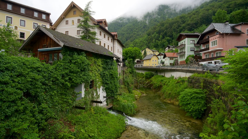 Ebensee which includes heritage elements and a river or creek