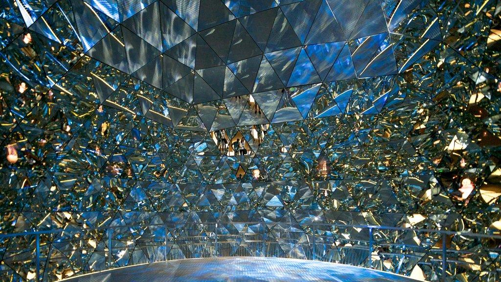 Swarowski Crystal Worlds showing interior views