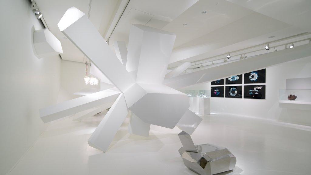 Swarowski Crystal Worlds showing art and interior views