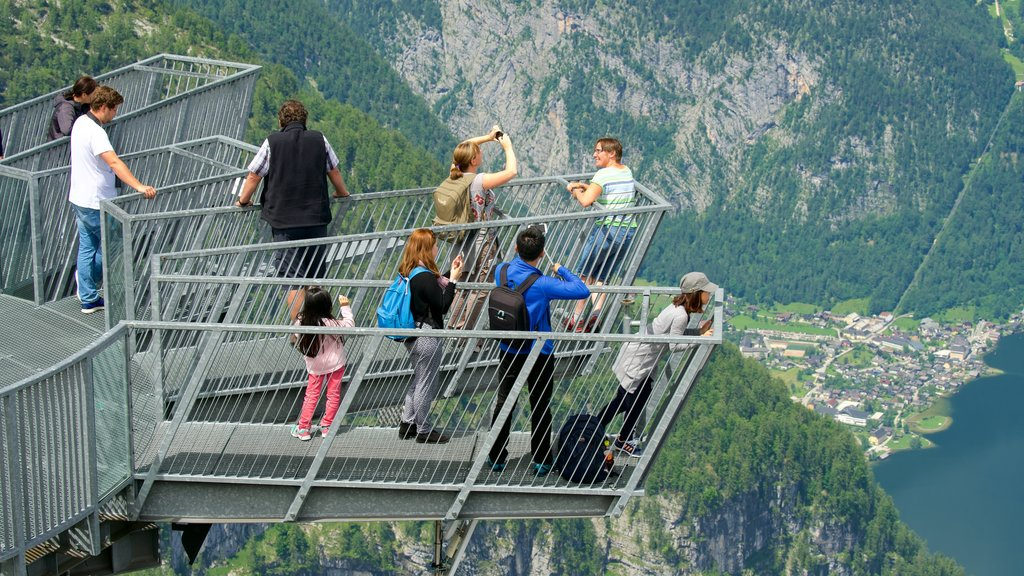 Hallstatt featuring views and tranquil scenes as well as a small group of people