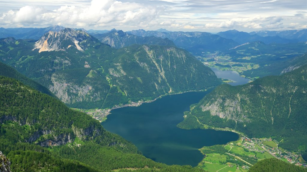 Hallstatt featuring mountains, a lake or waterhole and tranquil scenes