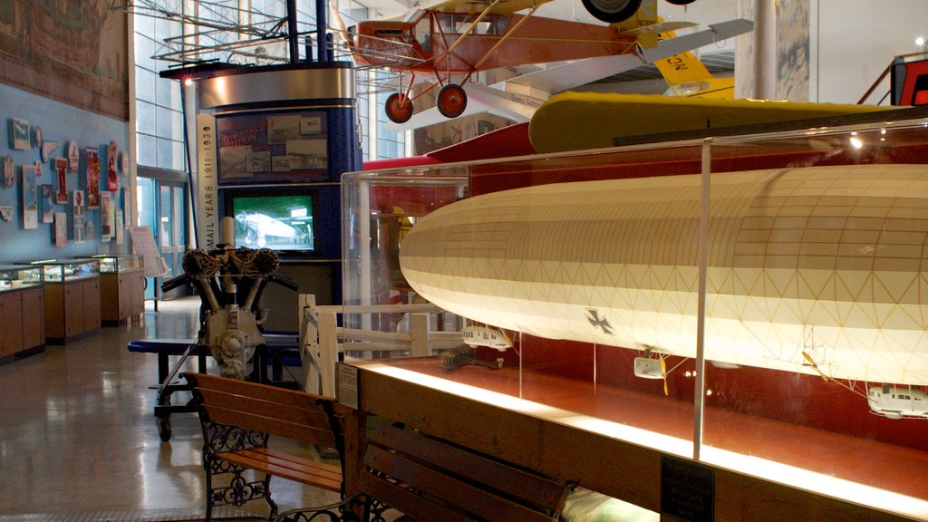 San Diego Air and Space Museum featuring aircraft and interior views