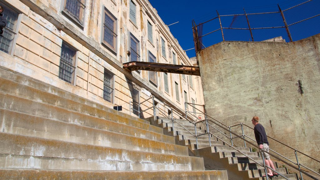 Alcatraz Island as well as an individual male