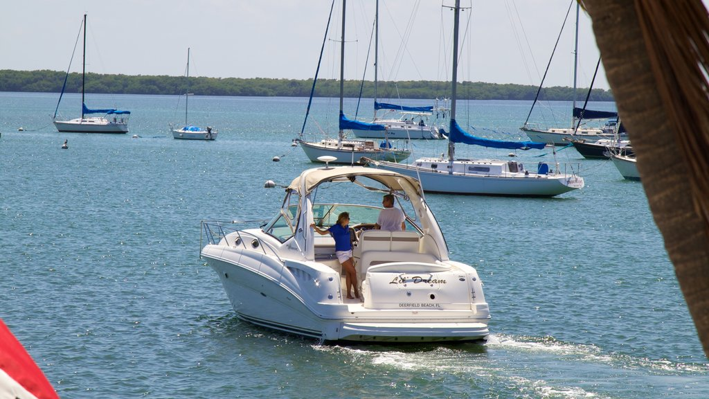 Crandon Marina which includes a marina, landscape views and boating