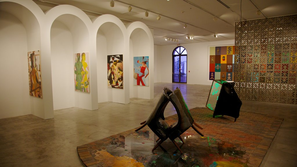 Miami Art Museum showing interior views and art