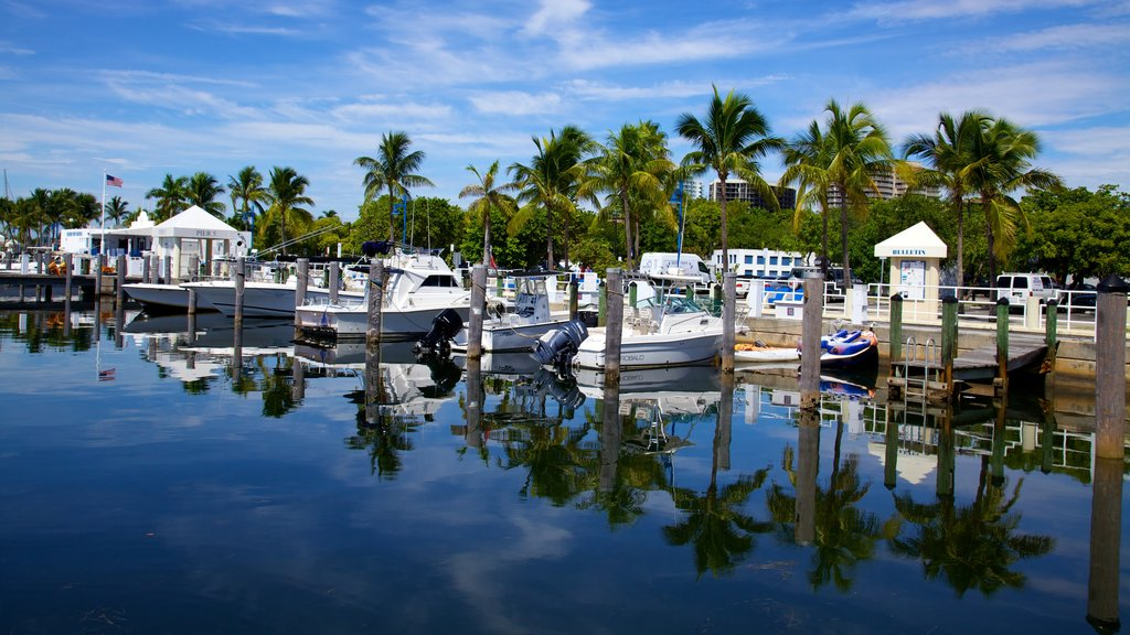 Miami featuring a bay or harbor, landscape views and boating