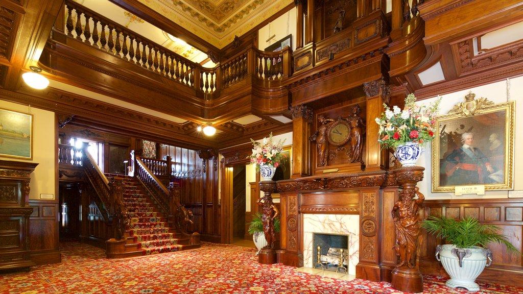 American Swedish Institute mostrando vistas interiores, flores y elementos del patrimonio