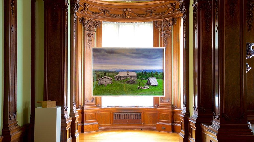 American Swedish Institute mostrando elementos del patrimonio, arte y vistas interiores