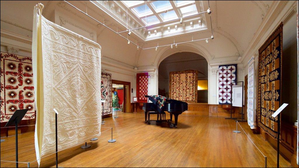 American Swedish Institute que incluye vistas interiores y elementos del patrimonio