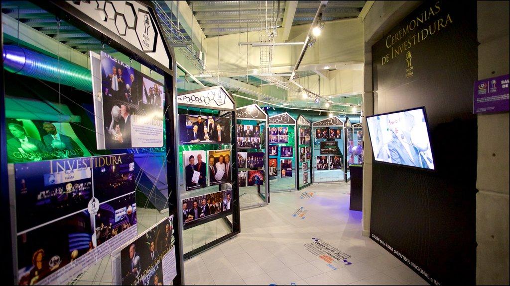 Centro Interactivo Mundo Fútbol ofreciendo vistas interiores