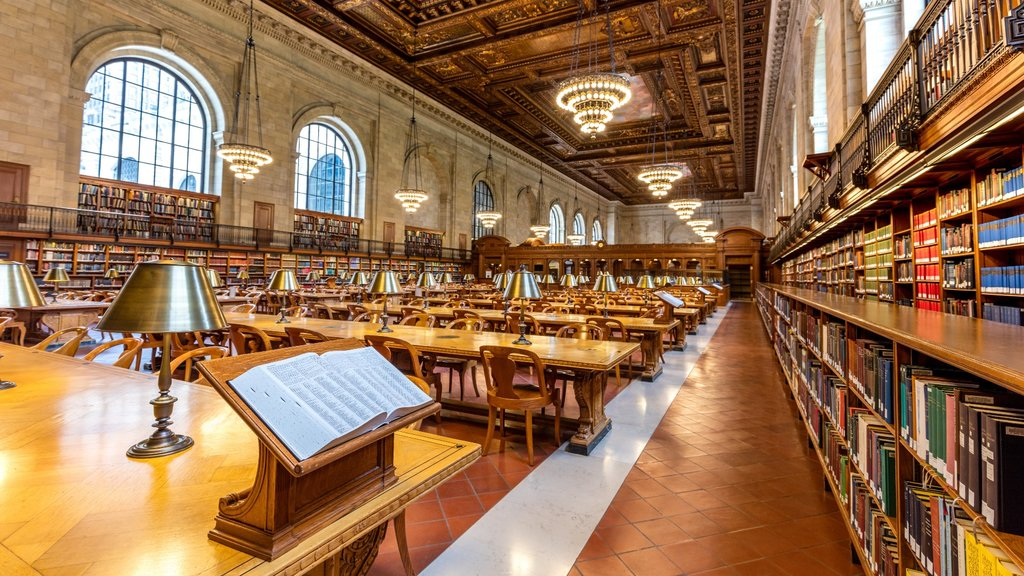 New York Public Library which includes interior views and heritage elements
