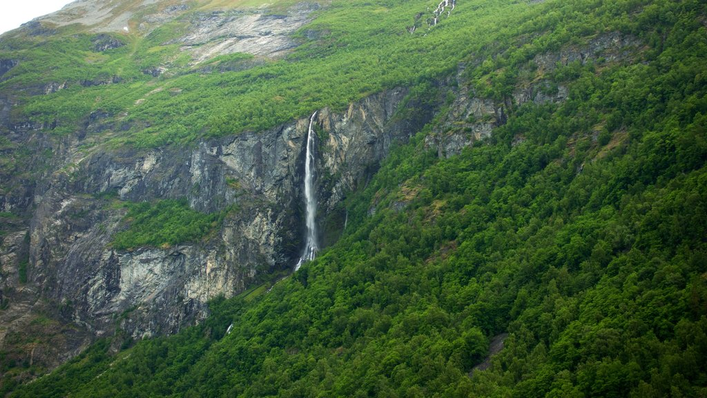 Geiranger showing a cascade and tranquil scenes