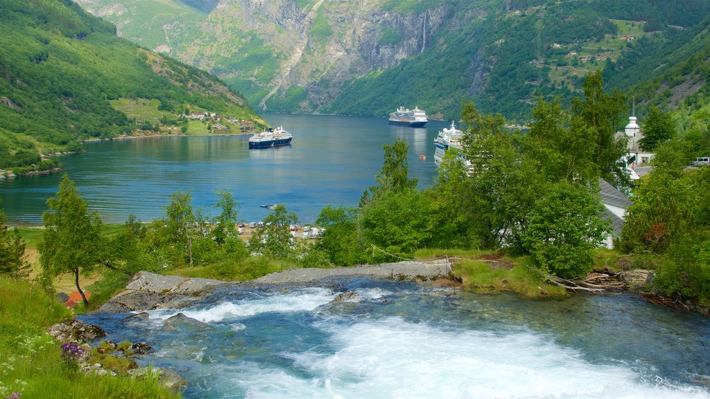 Geiranger showing a river or creek