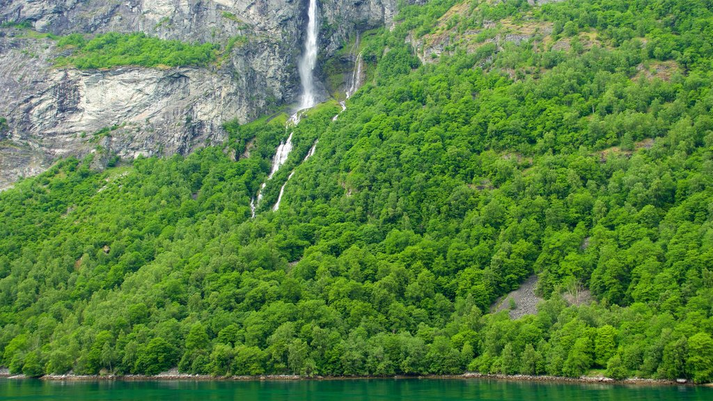 Geiranger featuring a cascade and a river or creek