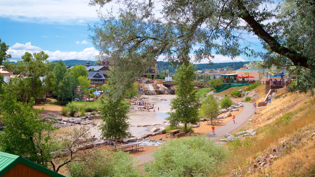 Pagosa Springs which includes a river or creek and a small town or village