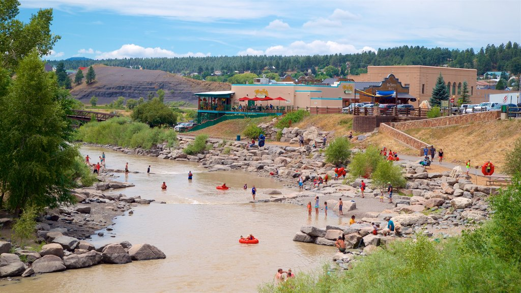 Pagosa Springs showing a river or creek and a small town or village