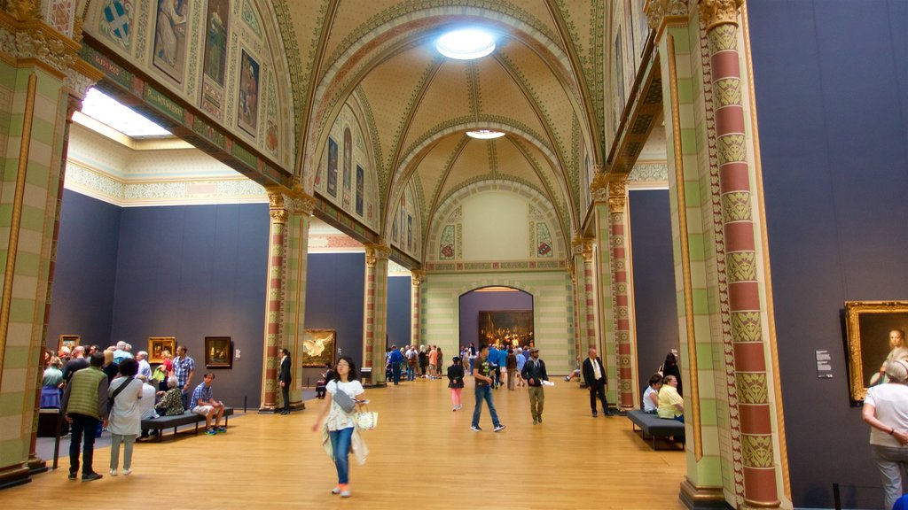 Rijksmuseum showing art, heritage elements and interior views