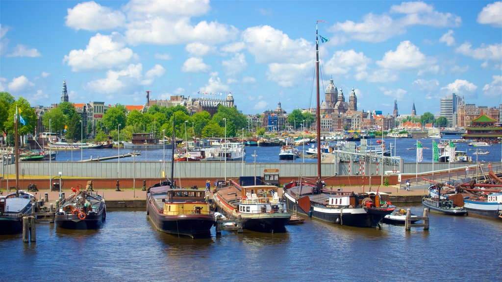 Amsterdam featuring a bay or harbor