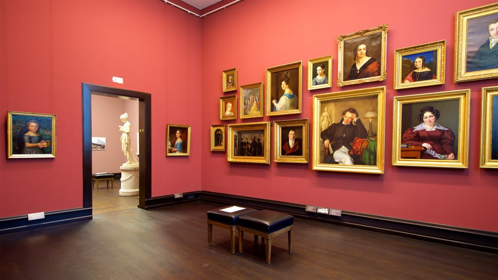 Kunsthalle Bremen showing art and interior views