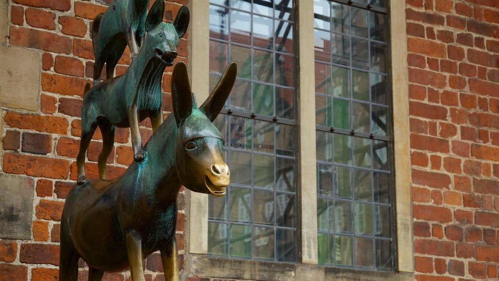 Bremen Town Musicians featuring outdoor art