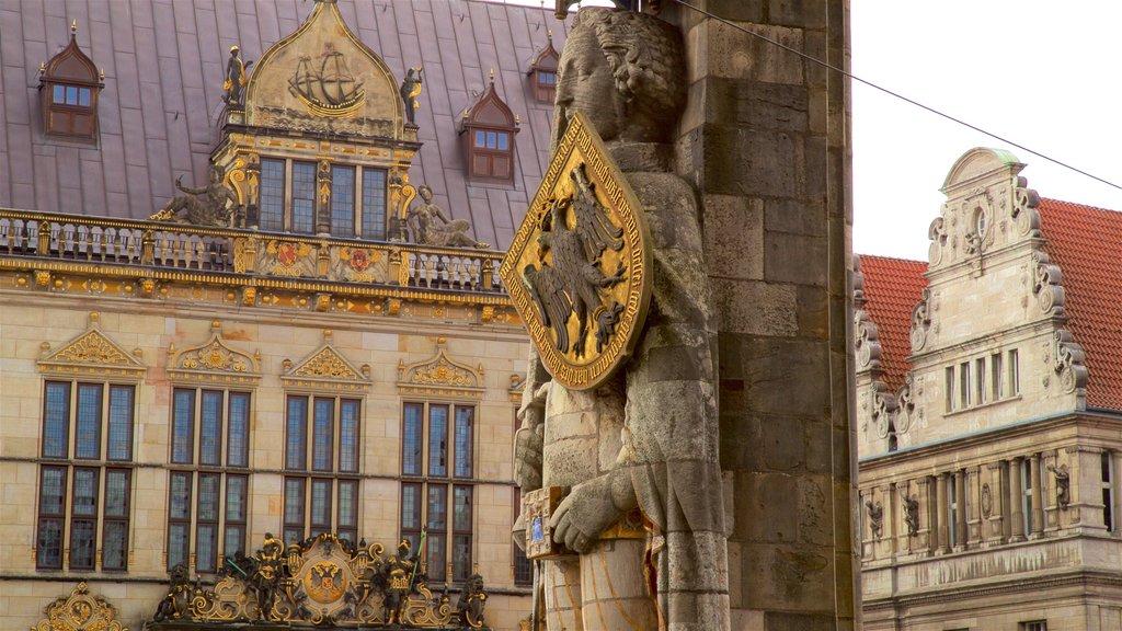 Bremen Roland Statue featuring heritage elements
