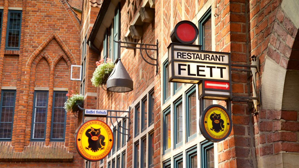 Bremen featuring heritage elements and signage