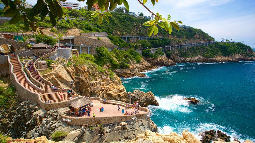Acapulco which includes rugged coastline