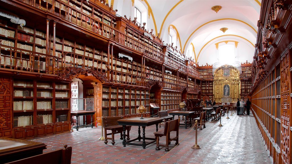 Palafoxiana Library which includes interior views and heritage elements