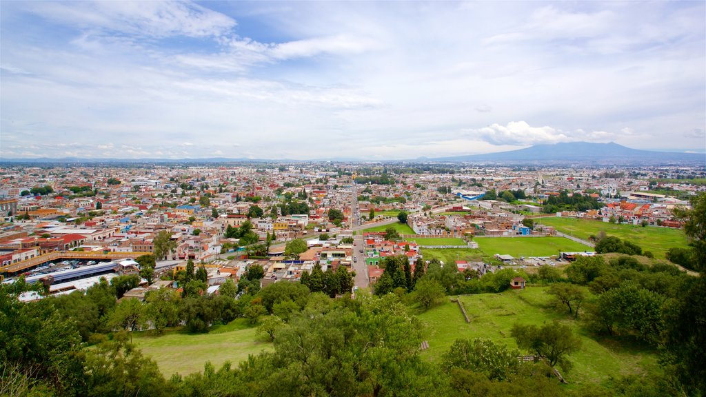 Cholula which includes landscape views and a city