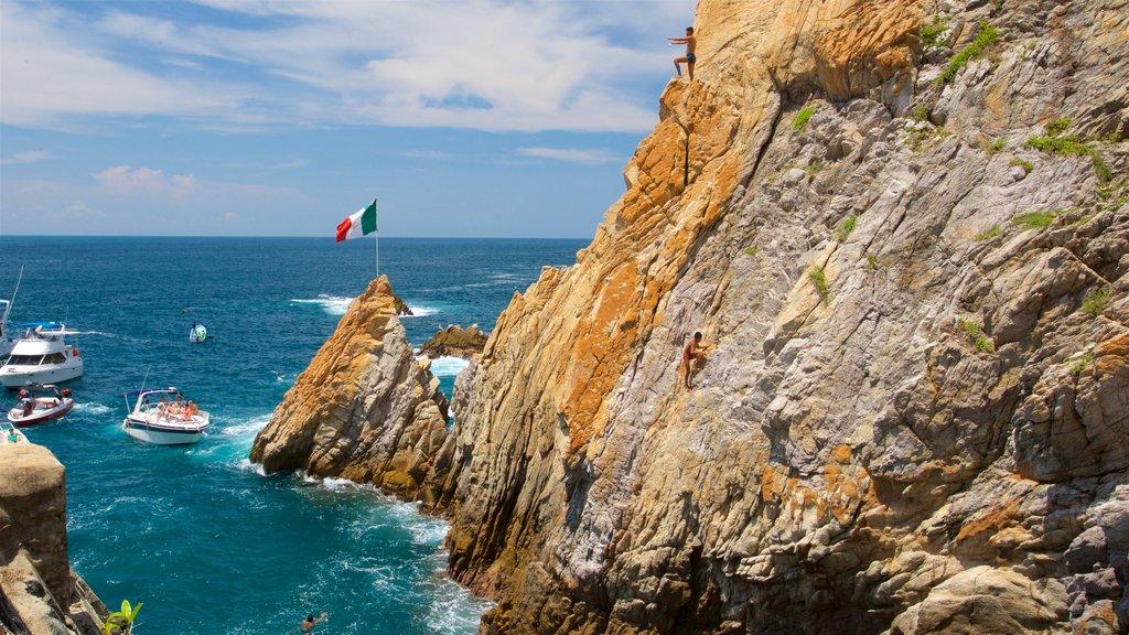 Acapulco Tradicional showing rocky coastline and general coastal views